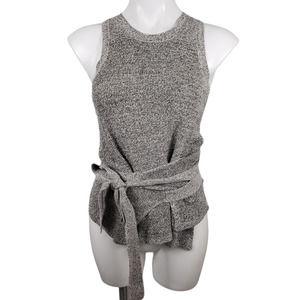 Madewell XXS Tie Wrap Sweater Tank Top Gray Knit